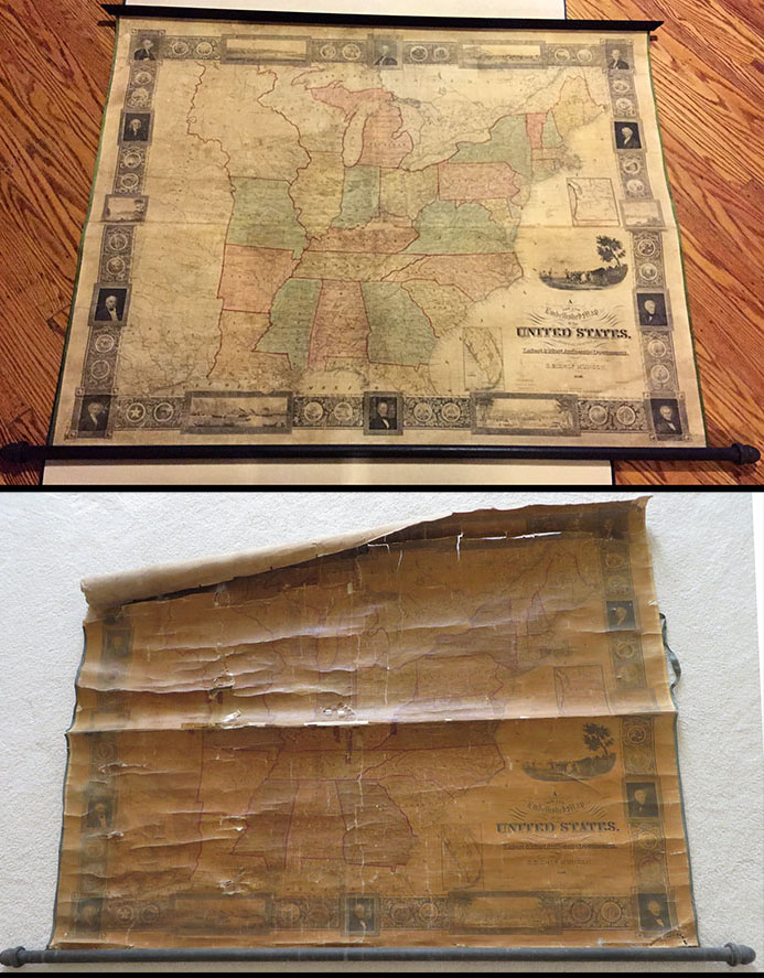 20bf0b6963c1 Geographicus Antique Maps is proud to offer a full range of conservation  services. We can flatten