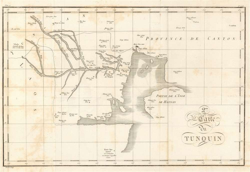 1810 Porlier Map of Northern Vietnam and the Gulf of Tonkin