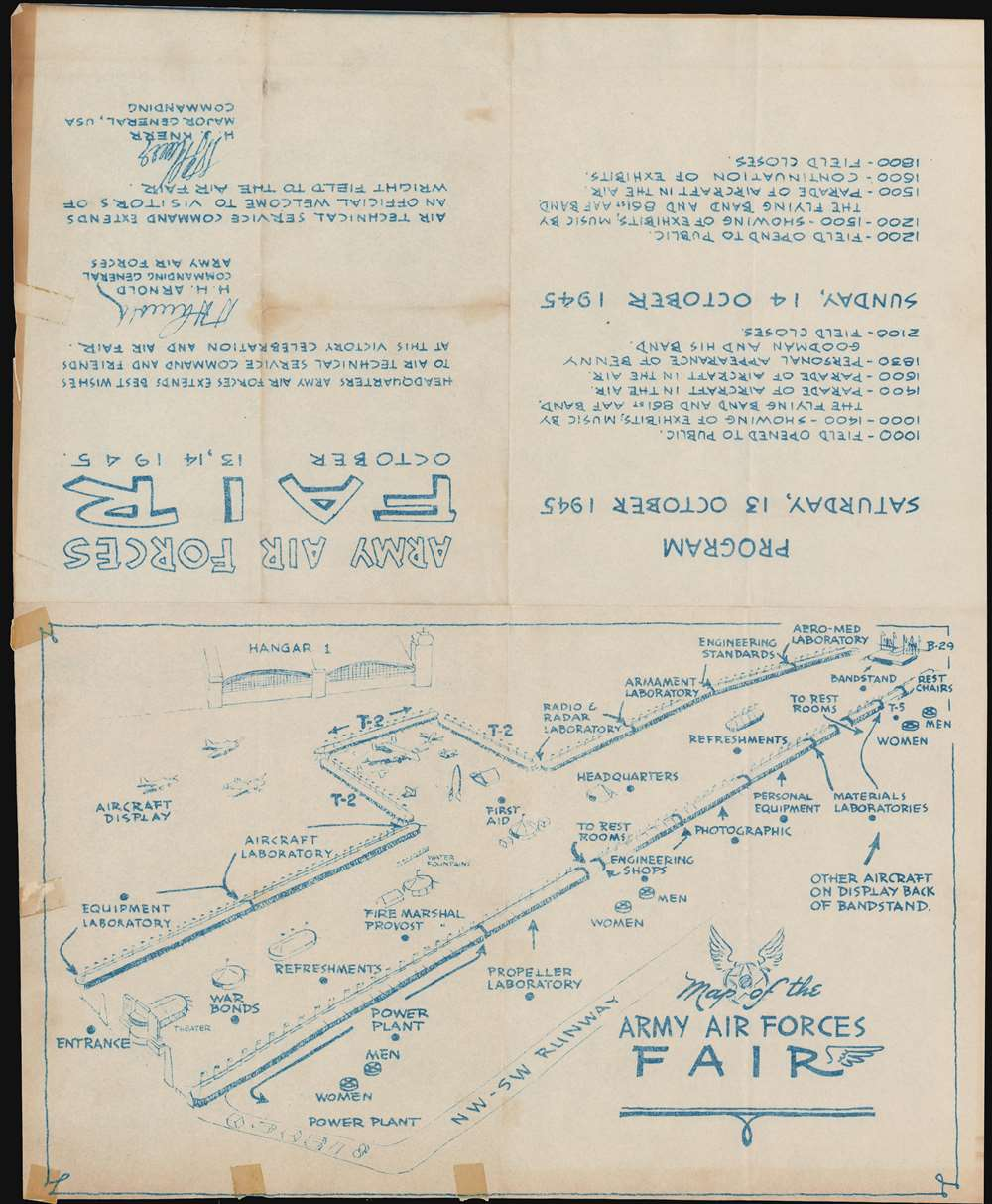 Map of the Army Air Forces Fair. - Main View