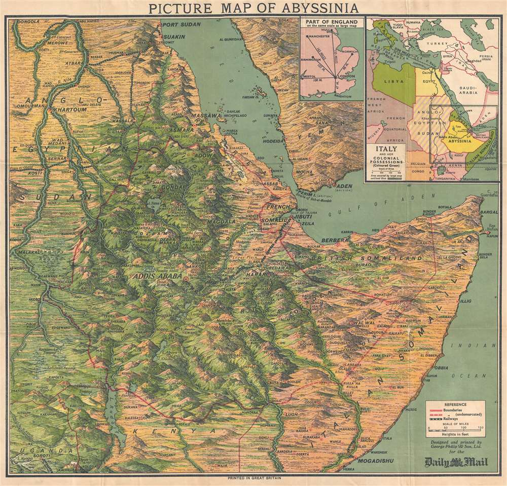 Picture Map of Abyssinia. - Main View