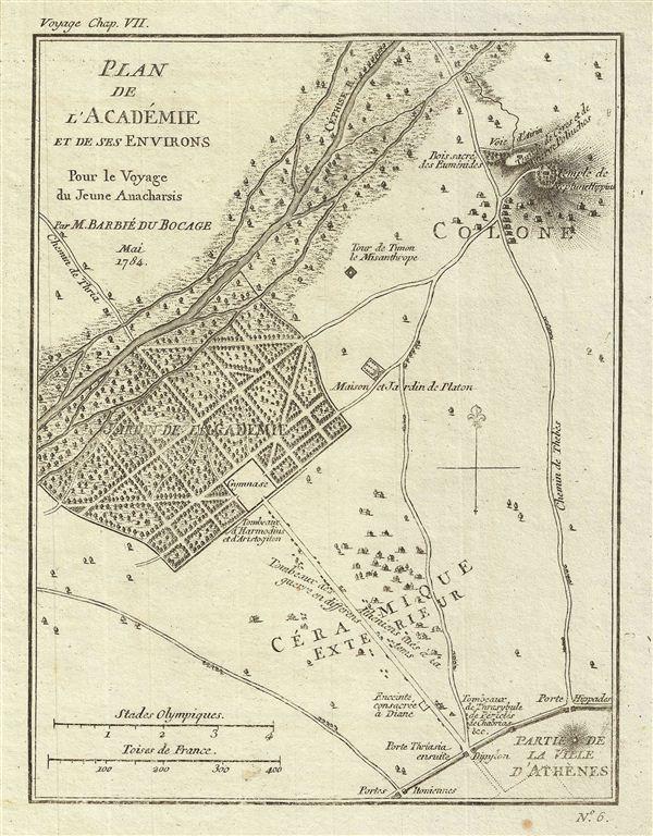 Plan de l'Academie et de ses Environs Pour le Voyage du Jeune Anacharsis.