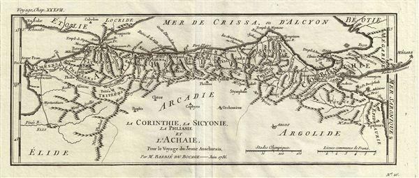 La Corinthie la Sicyonie, la Phllasie et l'Achaie, Pour le Voyage du Jeune Anacharsis.