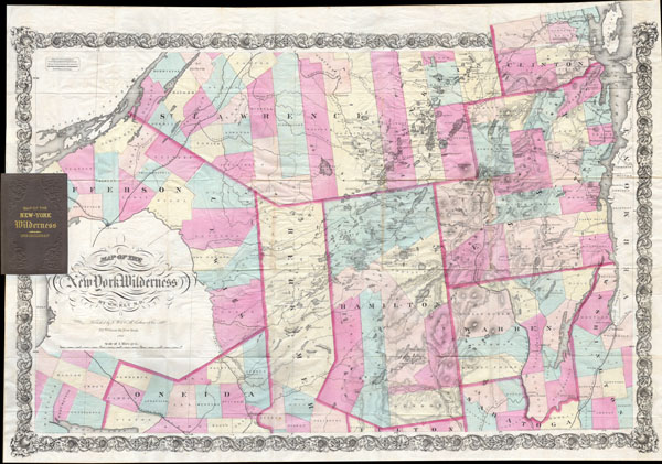 Map of the New York Wilderness. - Main View