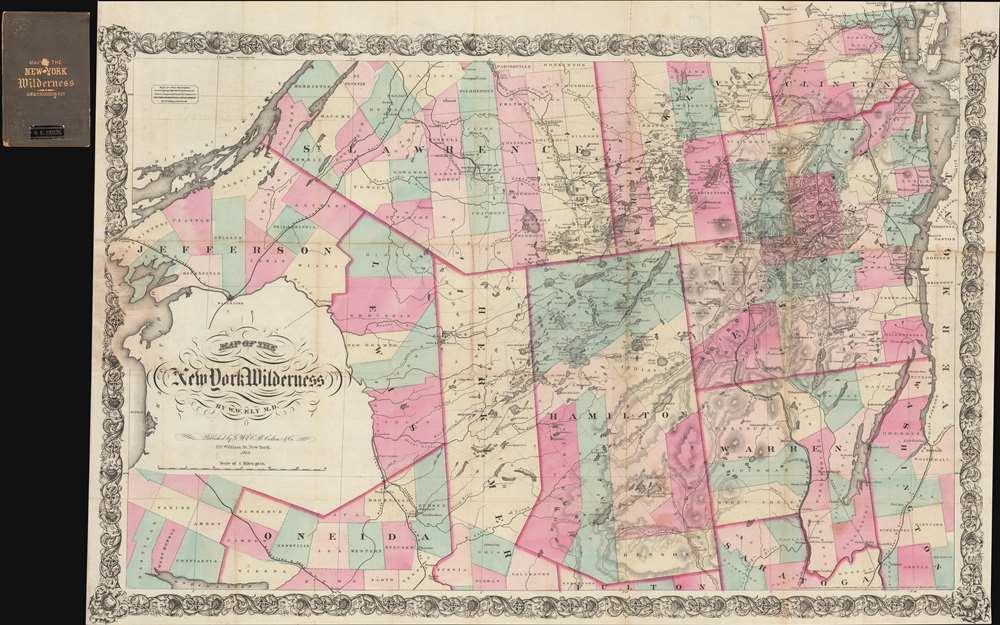 Map of the New York Wilderness.