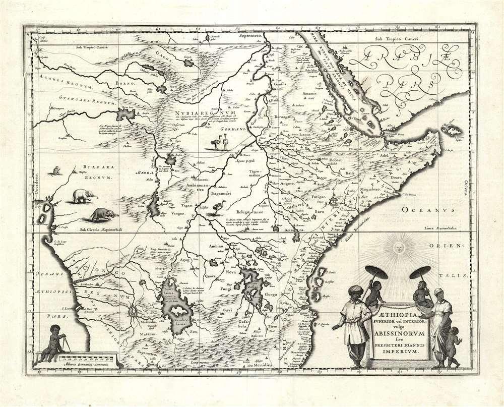 Aethiopia Superior vel Interior vulgo Abissinorum sive Presbiteri Joannis Imperium. - Main View