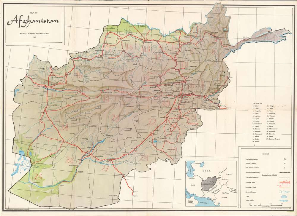 Map of Afghanistan. - Main View