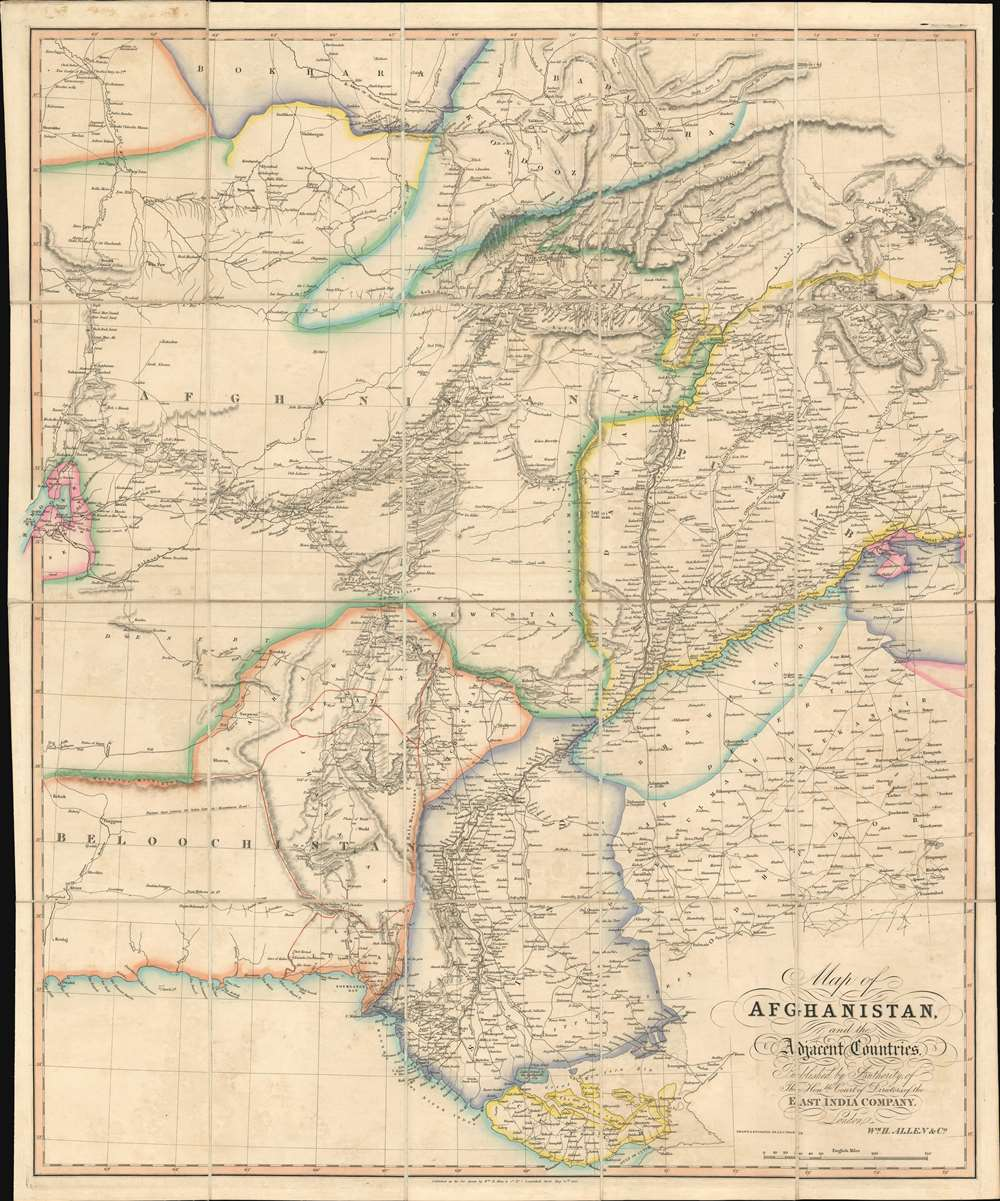 Map of Afghanistan and the Adjacent Countries Published by the Authority of the Hon.ble Court of Directors of the East India Company. - Main View
