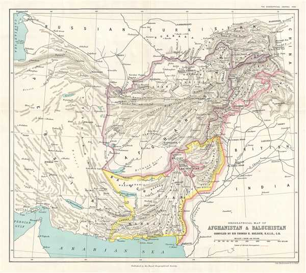 Orographical Map of Afghanistan and Baluchistan.