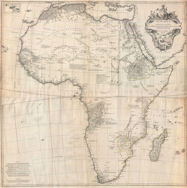Afrique Publiee sous les Auspices de Monseigneur le Duc D'Orleans Premier Prince du Sang. - Main View
