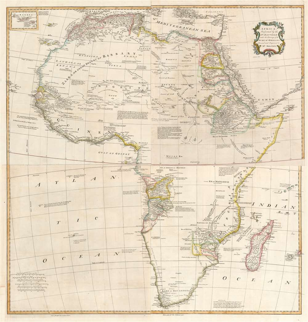 Africa, Performed by the Sr. D'Anville under the Patronage of the Duke of Orleans. - Main View