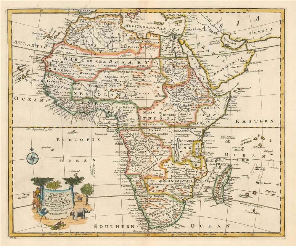 Map Of Africa 1747 A New and Accurate Map of Africa.: Geographicus Rare Antique Maps