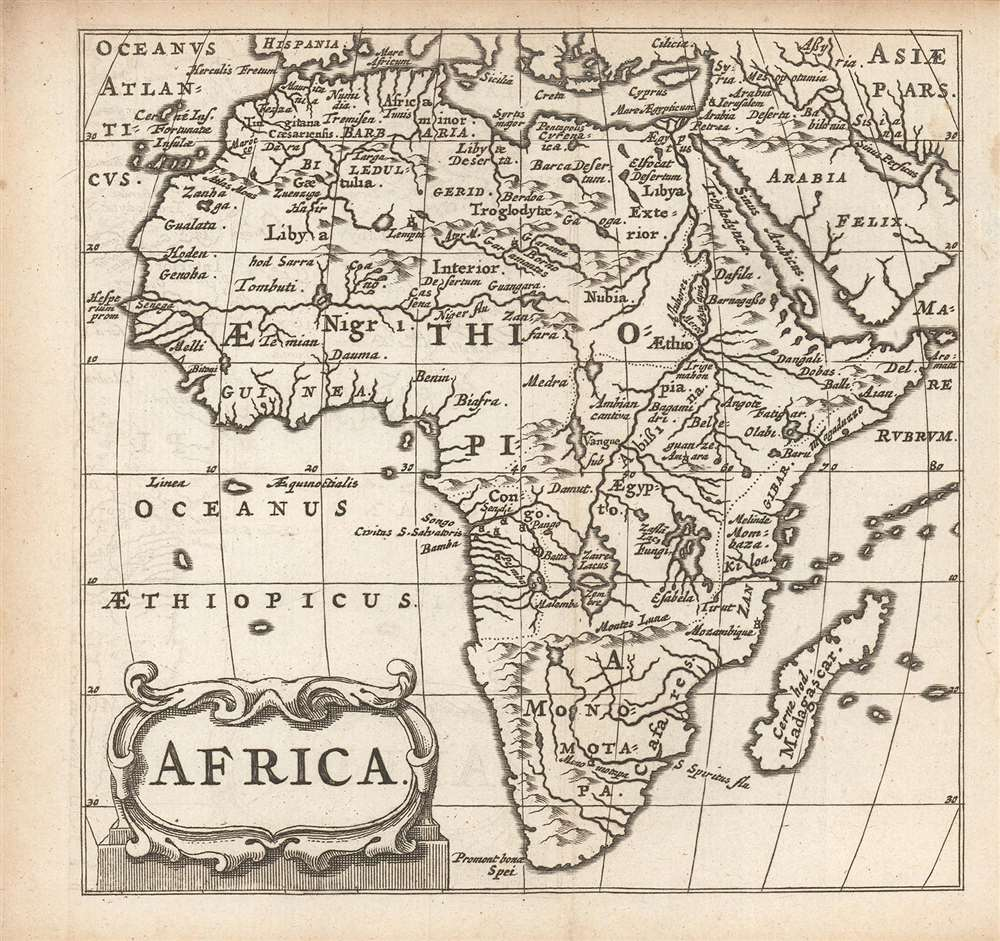 1661 Elzevir / Cluver map of Africa