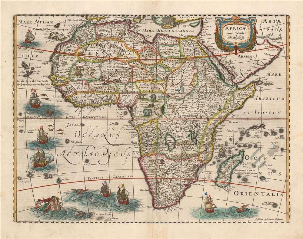 1631 Jansson / Hondius Map of Africa