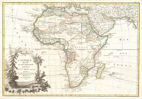 L'Afrique divisee en ses Principaux Etats.