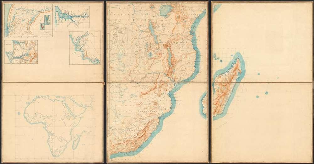 1885 Manuscript Map of East Africa: Lake Victoria, Tanzania, Kenya…