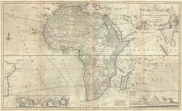 To the Right Honourable Charles Earl of Peterborow, and Monmouth, and C.  This map of Africa, According to ye Newest and Most Exact Observation is humbly Dedicated by your Lordship's most Humble Servant H. Moll Geographer. - Main View