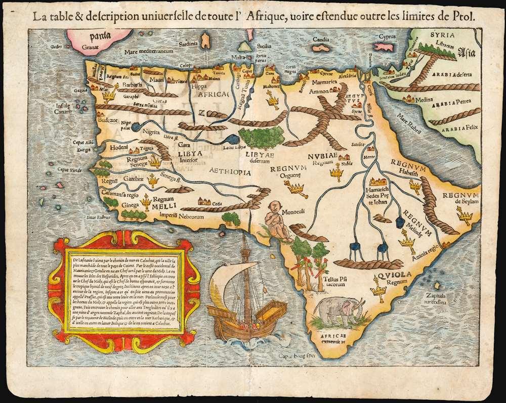 La table et description universelle de toute l'Afrique, voire estendue outre les limites de Ptol. - Main View