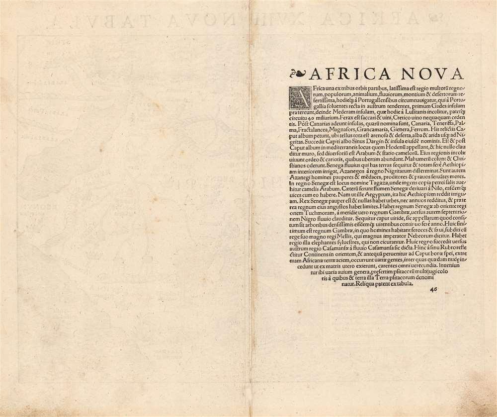 Africa XVIII. Nova Tabula. - Alternate View 1