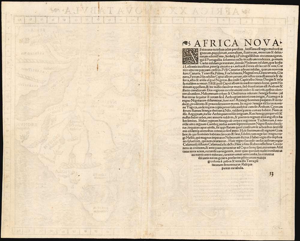 Africa XXV. Nova Tabula. - Alternate View 1