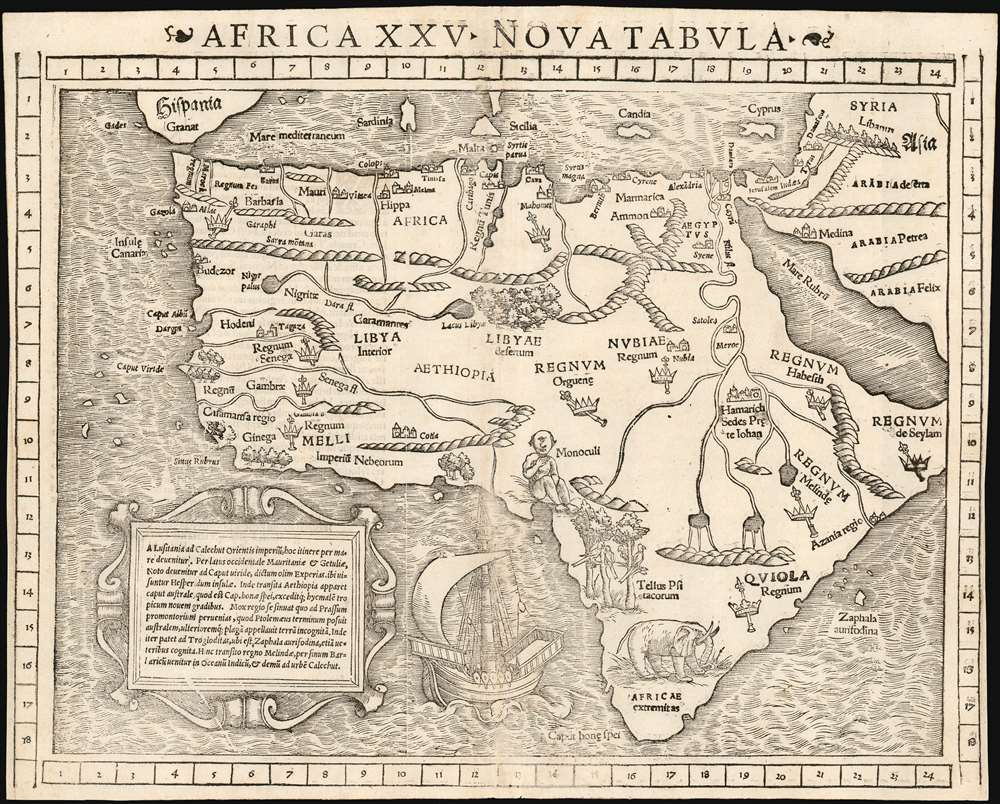 1552 Munster Map of Africa