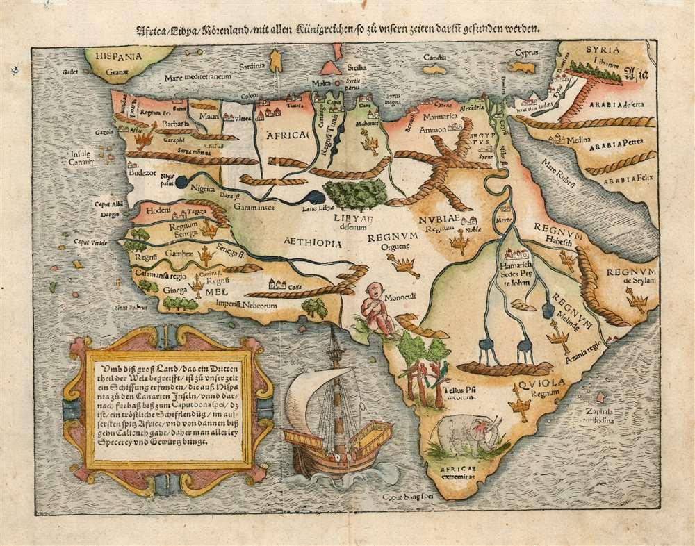Africa, Libya, Moerenland, mit allen Künigreichen, so zu unsern zeiten darin gefunden werden. - Main View