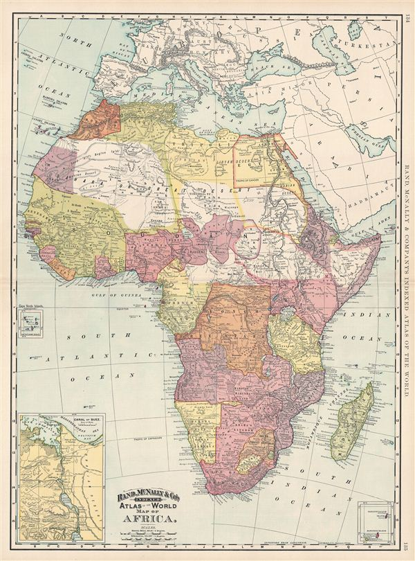 Map of Africa. - Main View