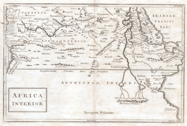 1730 Toms Map of Central Africa