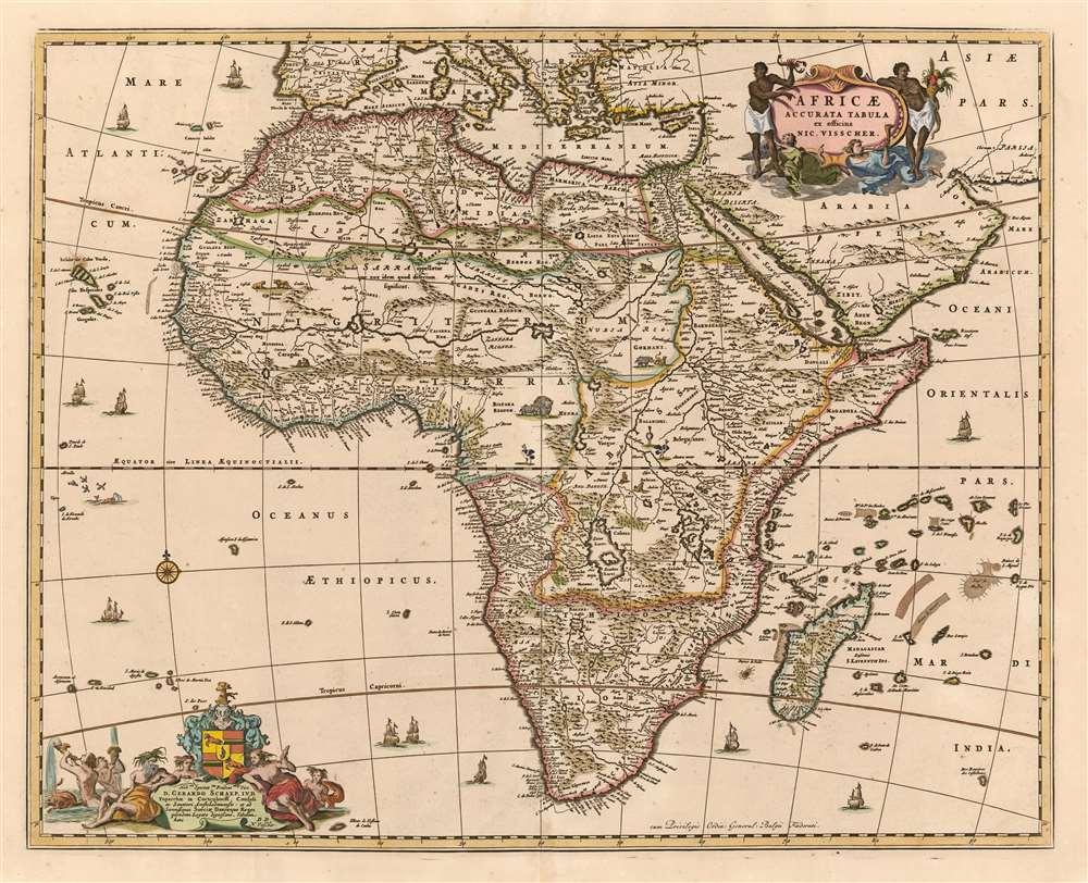 1658 Visscher Map of Africa
