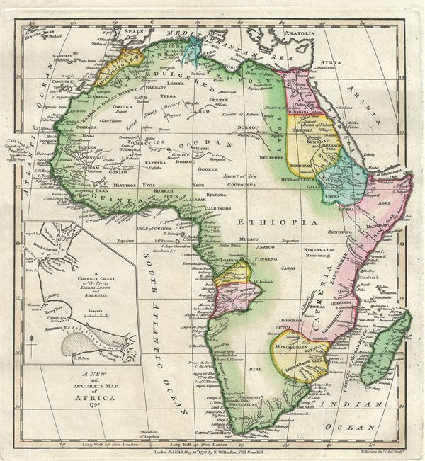 A New and Accurate Map of Africa. - Main View