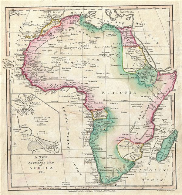 A New and Accurate Map o Africa.