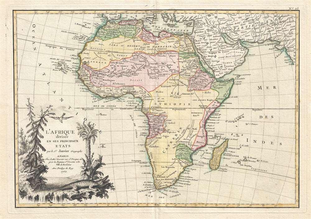 L'Afrique divisée en ses Principaux Etats.