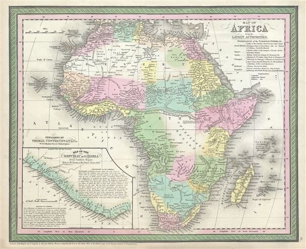 Map of Africa, from the Latest Authorities.
