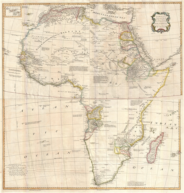 Africa, Performed by the Sr. D'Anville under the Patronage of the Duke of Orleans.