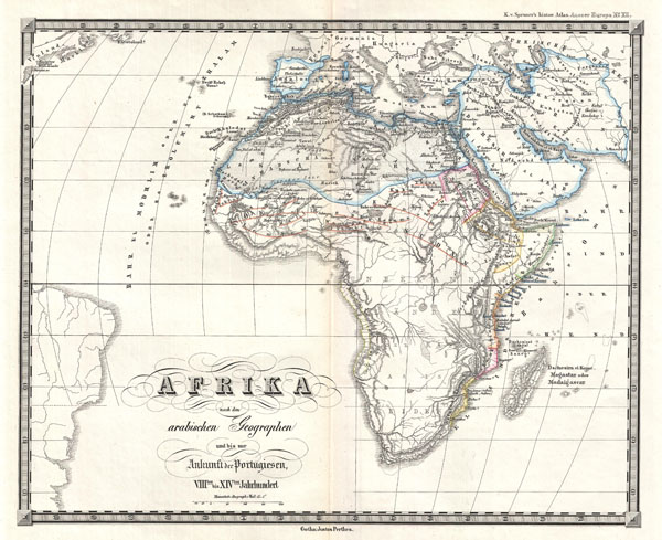 Afrika nach den arabishcen Geographen und bis zur Ankunft der Portugiesen VIIItes bis XIVtes Jahrhundert