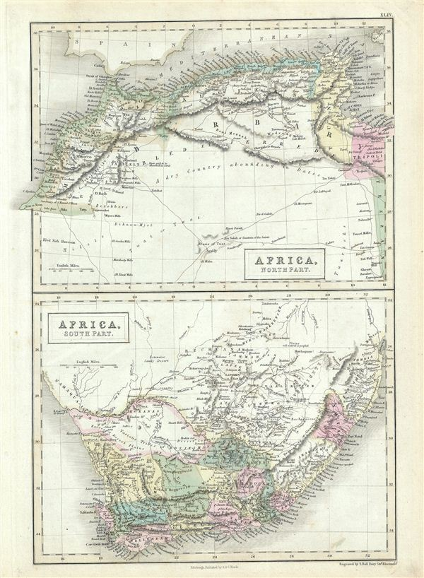 Africa, North Part.  Africa, South Part.