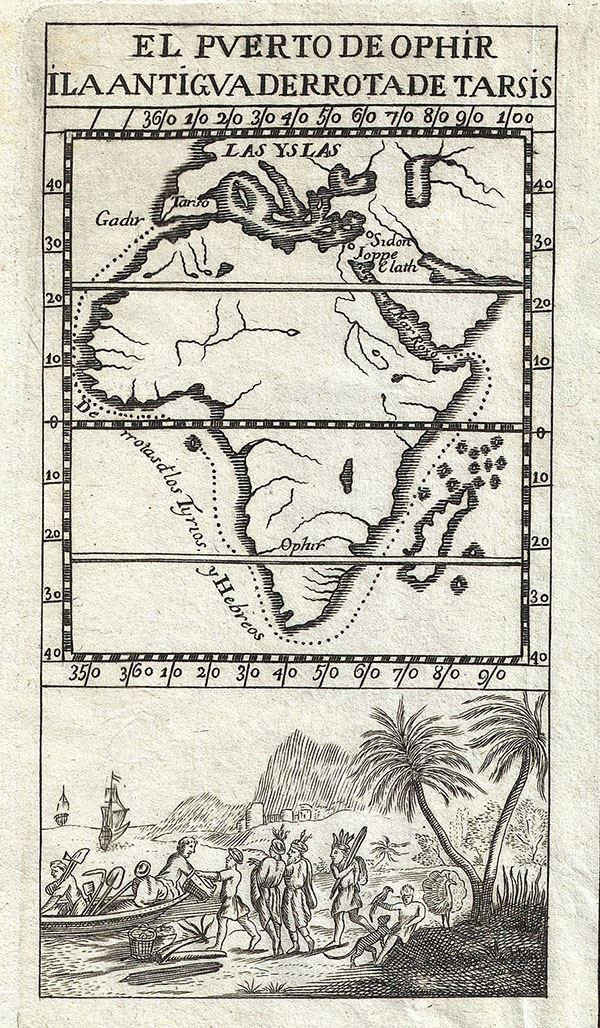 El Puerto de Ophir.  Ila Antigua Derrota de Tarsis.