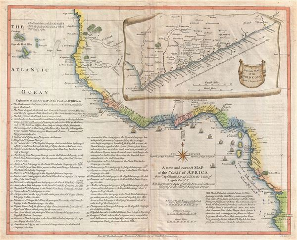 A New And Correct Map Of The Coast Of Africa From Cape Blanco Lat