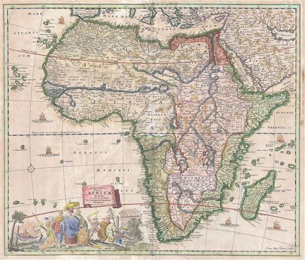 Accuratissima Totius Africae Tabula in Lucem producta per Iacobum de Sandrart Norimbergae.