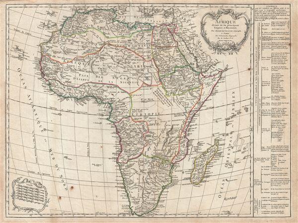 Afrique divisee en les principaux Empire et Royaumes.