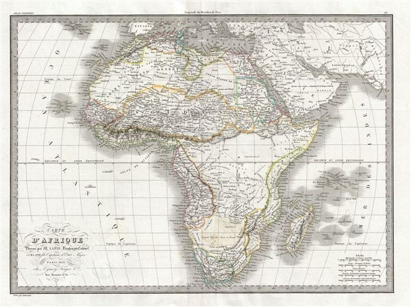 Carte d'Afrique. - Main View