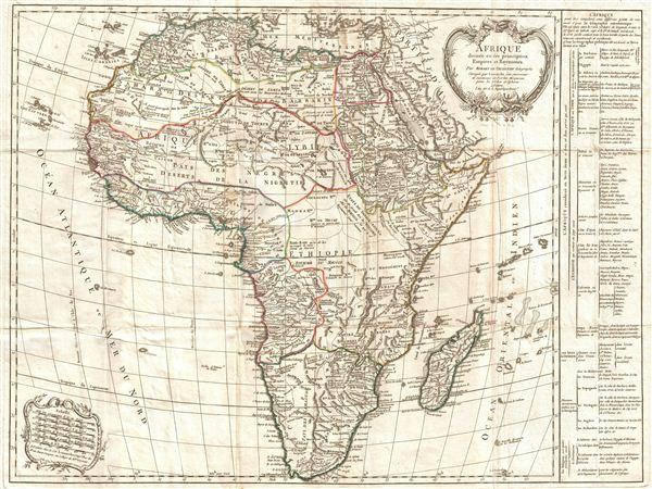 Afrique divisee en ses principaux Empires et Royaumes.