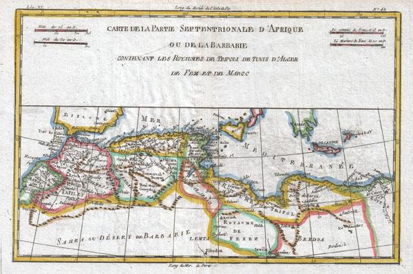 Carte De La Partie Septtrionale D'Afrique - Main View