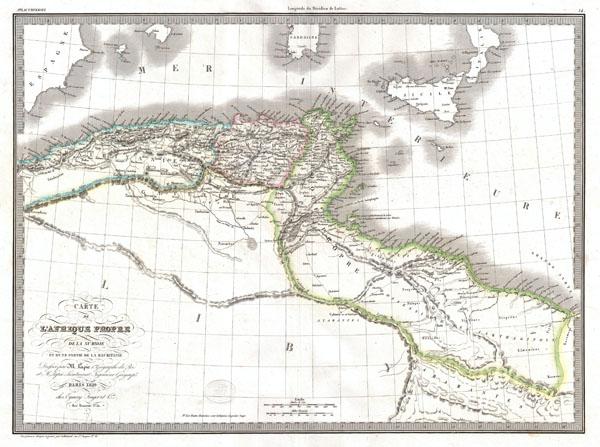 Carte de L'Afrique Propre de la Numidie et D'une Partie de la Mauritanie.