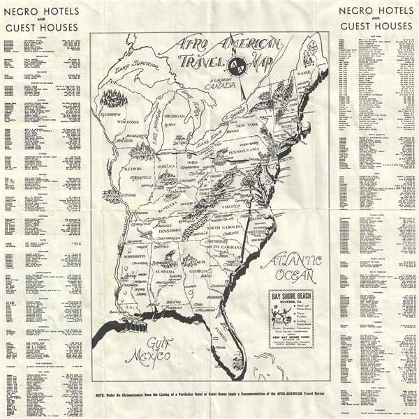 Afro American Travel Map.
