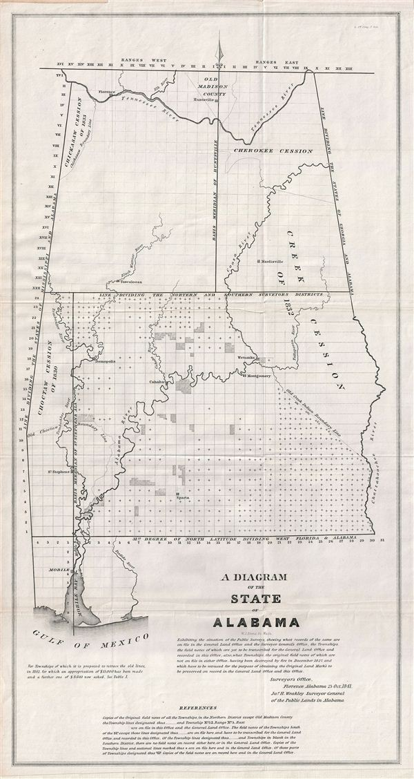 A Diagram of the State of Alabama. - Main View