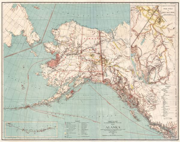Map of Alaska.