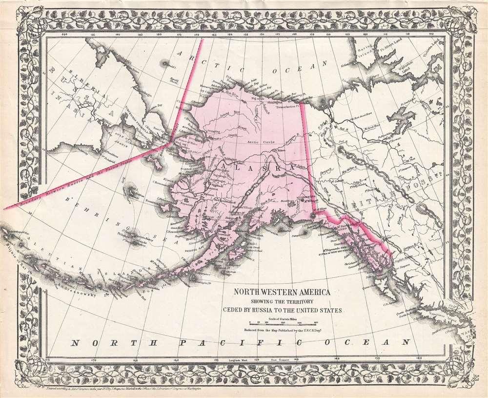 1872 Mitchell Map of Alaska