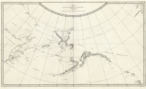 Chart of the N.W. Coast of America and N.E. Coast of Asia explored in the Years 1778 & 1779. - Main View