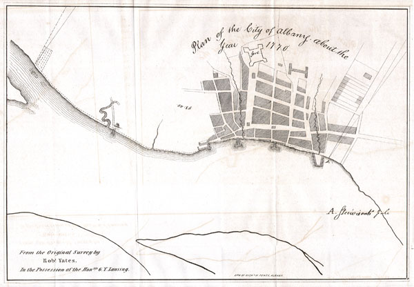 Plan of the City of Albany about the Year 1770.
