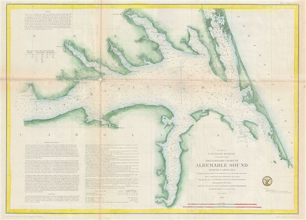 Preliminary Chart of Albemarle Sound North Carolina.